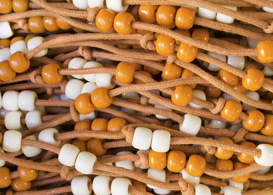 Perlenvorhang Holz
